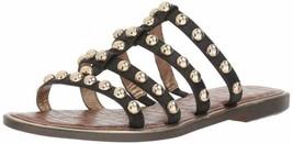 Sam Edelman Glenn Black Leather Sandals Size 6 M - $98.99