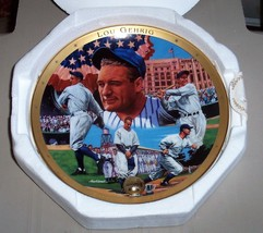 Franklin Mint Heirloom Plate - Royal Doulton - LOU GEHRIG - COA & Mailer - $19.79