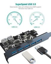 Tiergrade Superspeed 7 Ports PCI-E to USB 3.0 Expasion Card with 15-Pin SATA Pow image 4