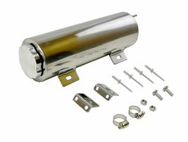 "3""x9"" Stainless Radiator Coolant Overflow Reservoir Tank w/ Twist Cap Univ. image 3"