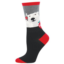 Coca Cola Classic Bear Cheers Logo Women's Socks Black - $11.98