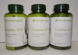 Three Pack: Nu Skin Nuskin Pharmanex CordyMax Cordy Max CS-4 CS4 120 Capsules x3 - $84.00