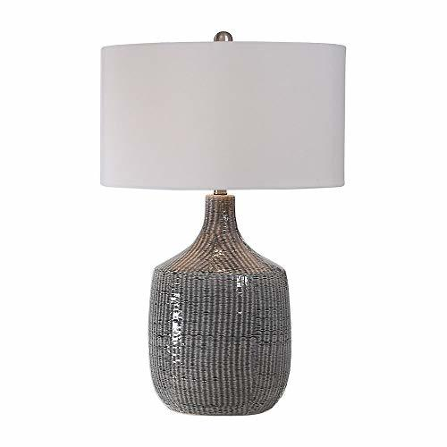 Table Lamp in Distressed Gray