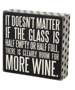 """Clearly Room for More Wine Box Sign Primitives Kathy 6"""" x 6.25"""" - $15.95"""