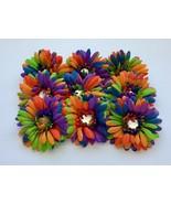 9 Piece Set Rainbow Red Blue Orange Green Woman Baby Flower Girl Hair Cl... - £14.38 GBP