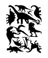 LiteMark Black Assorted Dinosaur Decals - Pack of 42 - $19.95