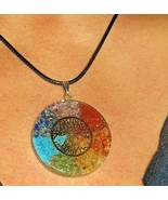 Orgone Energy Pendant Necklace Tree Of Life 7 Chakra Healing Stones Orga... - $15.83