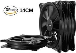 Uphere 140mm Case Fan 3-Pack Computer Case Fan With Advanced Hydraulic Bearing - $35.41