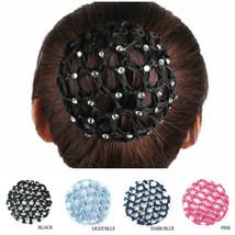 Elastic Band Crochet Hair Bun Cover Snood Hair Net Ballet Dance, 4 Color... - $10.95