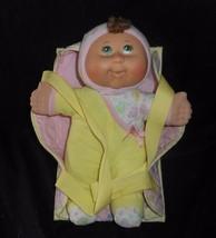 2009 Cabbage Patch Kids Doll Yellow Pajamas W/ Carrier Stuffed Animal Plush Toy - $23.38