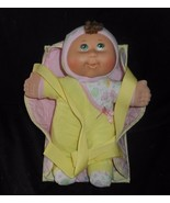 2009 CABBAGE PATCH KIDS DOLL YELLOW PAJAMAS W/ CARRIER STUFFED ANIMAL PL... - $23.38