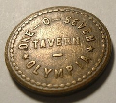 Antique Trade Token : One-O-Seven Tavern Olympia Washington 5 Cents - $10.00