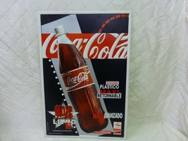 Coca Cola Advertisement Sign Barcelona 1992 Olympics Coke Plastic Spanis... - $40.14