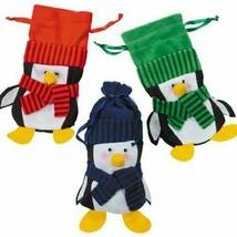 Lot of 12 Felt PENGUIN Gift BAGS Adorable Christmas Holiday Dozen Assort... - $15.51