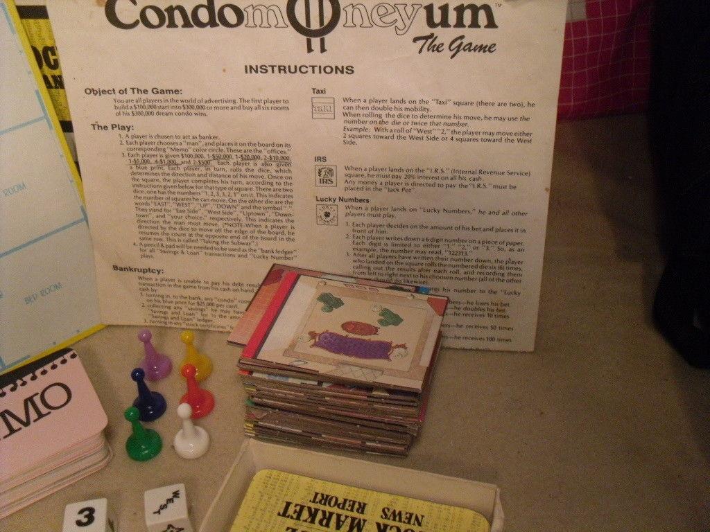 Condomoneyum The Board Game from ESM - 80s Lifestyle image 5