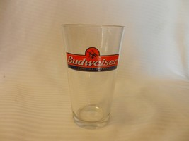 """Budweiser King Of Beers Beer Pint Glass Clear 5.75"""" Tall with logo - $22.28"""