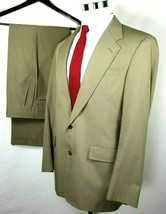 Tom James Suit Size 38 Regular 35 x 33 Two Button Corporate Image Tan Wo... - $54.40