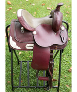 """ROYAL KING 12"""" YOUTH CHILDREN'S WESTERN HORSE SADDLE DARK OIL USED / EXC... - $377.70"""