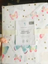 Pottery Barn Kids Gigi Butterfly Sheet Set Full Organic 4pc Mew - $78.25