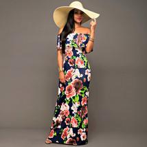 Ruffle Off Shoulder Maxi Dress At Bling Brides Bouquet Online Bridal Store image 8