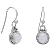 Round Moonstone French Wire Earrings - $25.97