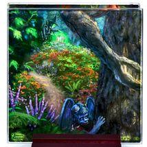 Thomas Kinkade The Wizard of Oz Prints 4 Piece Fused Glass Coaster Set w Holder image 4