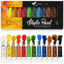 Acrylic Paint Set - Painting on Canvas Glass Crafts Fabric Clay Ceramic ... - $37.17