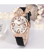 Womens Luxury Watches Casual PU Leather Strap Rhinestone Analog Quartz R... - $12.50