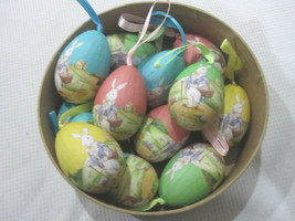 Primitive Vintage Style Easter Egg Ornaments Tree Decorations Qty of 12 - $19.99