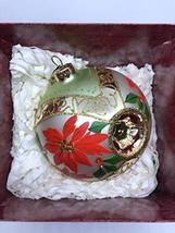 Red Poinsettias Blown Glass Holiday Traditions Collectors Series 1st in Series 1 - $24.75