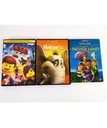 Kids DVD Lot 3 Peter Pan Returns Lego Movie Horton Who DVD Disney Children  - $29.99