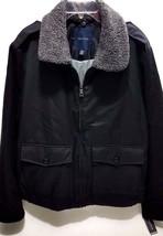 Nautica Men's Fleece Collar Bomber Jacket True Black  XLarge - $63.20