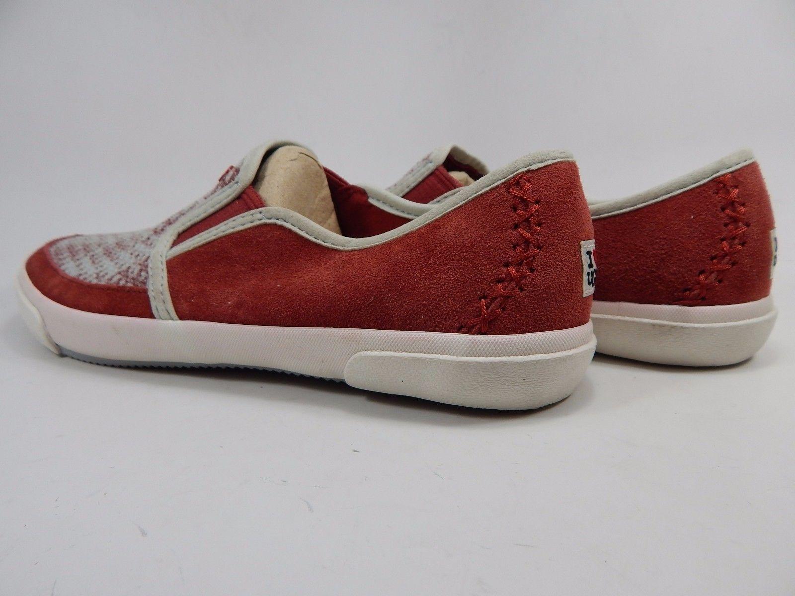 UGG Australia I Heart Slip On Sequin Plaid Slippers Flats Size 7 M Red  1009999