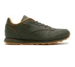 Reebok Classic Leather x Kendrick Lamar Olive Green Gum Kids Shoes BS7499 - $59.95