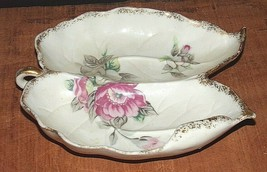 UCAGCO GILT EDGE ROSE/LEAF CANDY DISH - MADE IN JAPAN - $16.83