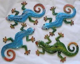 "Lizard Gecko Curled Tail Hanging Wall Plaque Art Decor 9.5"" x 6.5"" Your Choice - $12.99"