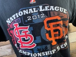 National League Championship League 2012 Cardinals Giants Mlb T-Shirt Size M - $9.89