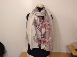 MAD fashion New scarf  Pastels Floral and High Heel Shoe Pattern choice of color image 8