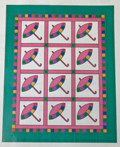 Patty's Parasol Lap Quilt Pattern by Sue Bouchard Quilt in a Day 47 x 60 inches - $5.80