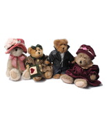 Boyds Bears Plush Toy Bundle Aunti Lola Baily Bear Edmund Rosanna Dubeary - $39.97