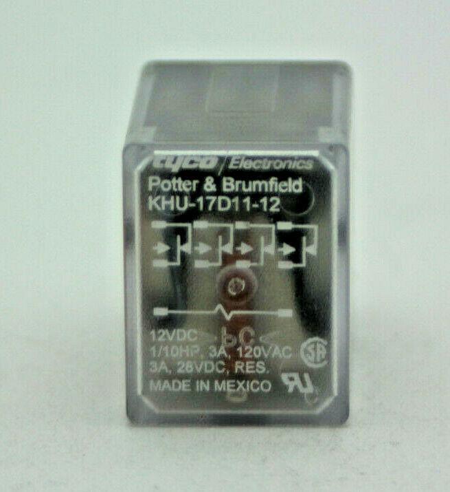 Ice cube Relay 12 Volt DC Potter /& Brumfield KUP-11D55-12 DPDT NEW