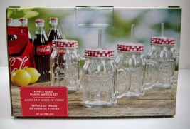 Coca-Cola 4-Pack Mason Jars (20oz) - NEW IN BOX - $15.35