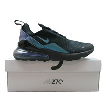 Nike Air Max 270 Black Laser Fuchsia Purple Running Shoes Size 9 Mens AH... - $158.35