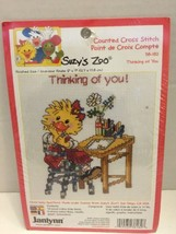 "2001 Janlynn Cross Stitch Kit Suzy's Zoo ""Thinking of You"" Complete & Sealed - $4.99"