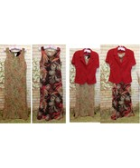 2pc Dress with Red Jacket- Reversible Maxi Floral Dress! size 8 - $14.25