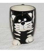 BURTON & BURTON BLACK & WHITE CHESTER THE CAT 10 oz CERAMIC COFFEE MUG EUC  - $8.99
