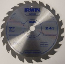 "Irwin Classic 25130 / 15130 7-1/4"" x 24T Framing / Ripping Circular Saw ... - $3.22"