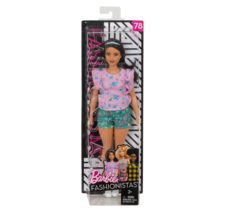 Barbie Fashionistas 2018 Doll 79 Floral Frills Curvy High Tops Mattel NEW - $22.77