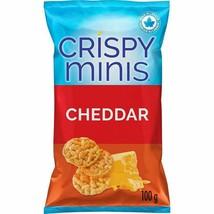 6x Quaker Crispy Minis Cheddar Rice Chips 100g/3.52oz EACH Canada ALWAYS FRESH! - $35.59