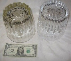 Two (2) Princess House Crystal Ice Buckets / Serving Bowls Etched USA - $40.45